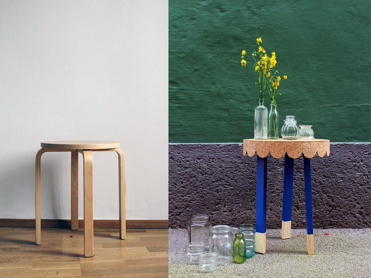 7 Easy Steps To Transform An Ikea Stool Into A Cute Table