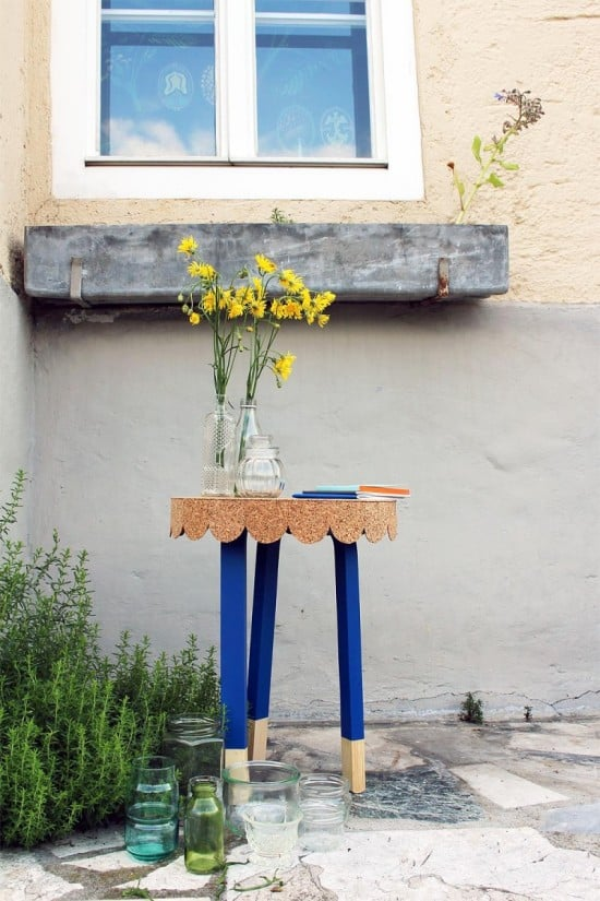 The IKEA Frosta stool hacked into a cute table