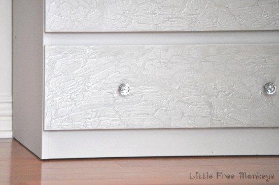 How to do a crackled paint MALM dresser makeover