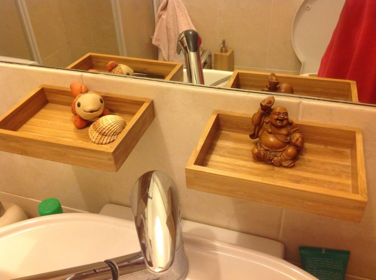 Bath toy storage that transforms to guest luxury bathroom on - Bathroom Tray For Small Items