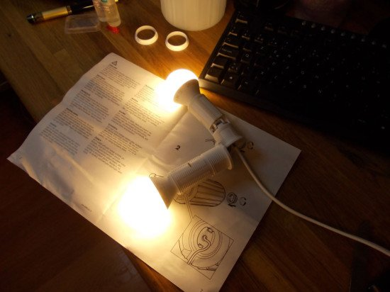 Testing the twin lamps