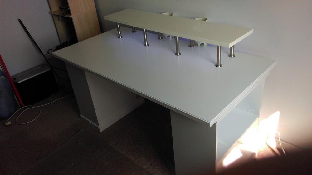 Computer Workstation Hack With Klimpen Ekby Ikea