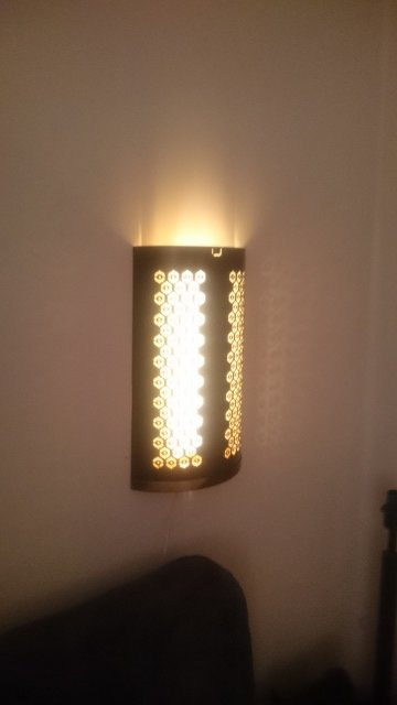 IKEA STABBIG candle block lantern becomes wall sconce