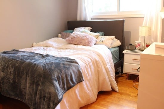 Upholstered double bed IKEA Hack