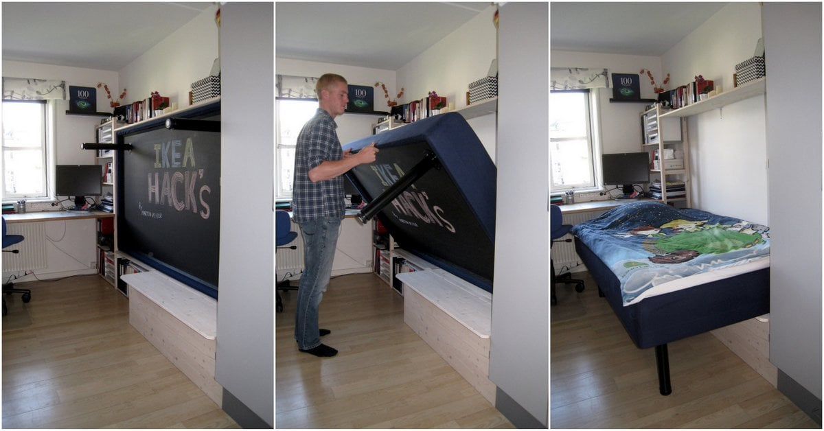 Hack An Ivar Murphy Bed Ikea Hackers