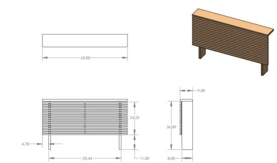 Mandal headboard in 3D plan