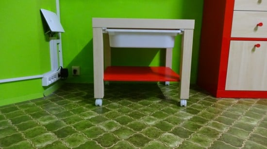 Ikea lack multi purpose side table decoration for Deco table multicolore