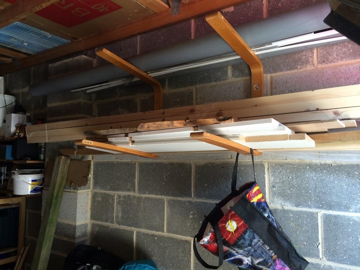 wood storage rack or surfboard rack ikea hackers ikea hackers. Black Bedroom Furniture Sets. Home Design Ideas