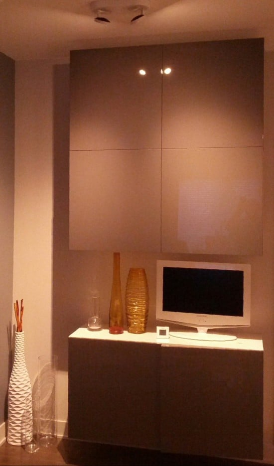 IKEA BESTÅ with grey lacquered doors