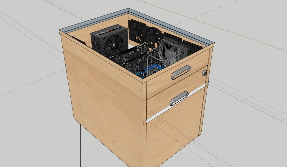 Ikea Galant Credenza : Gaming pc invades galant drawer unit ikea hackers lovin
