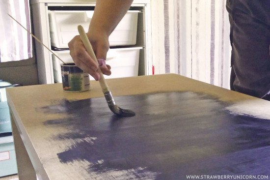 Give it two to three coats of chalkboard paint