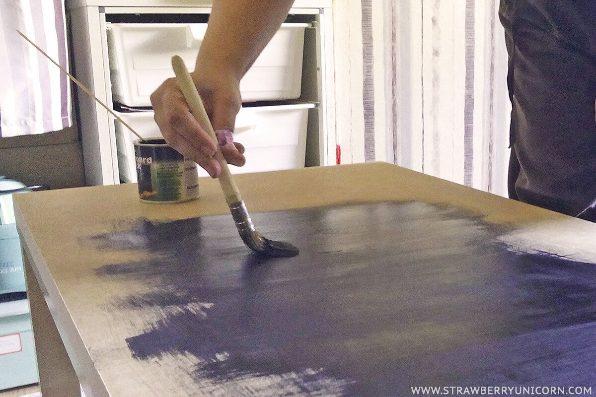 how to make a fun chalkboard from a lack coffee table - ikea