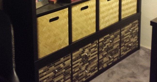 Kallax Wall Unit With Smart Tiles Ikea Hackers Ikea