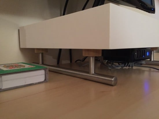 LACK monitor stand on rails