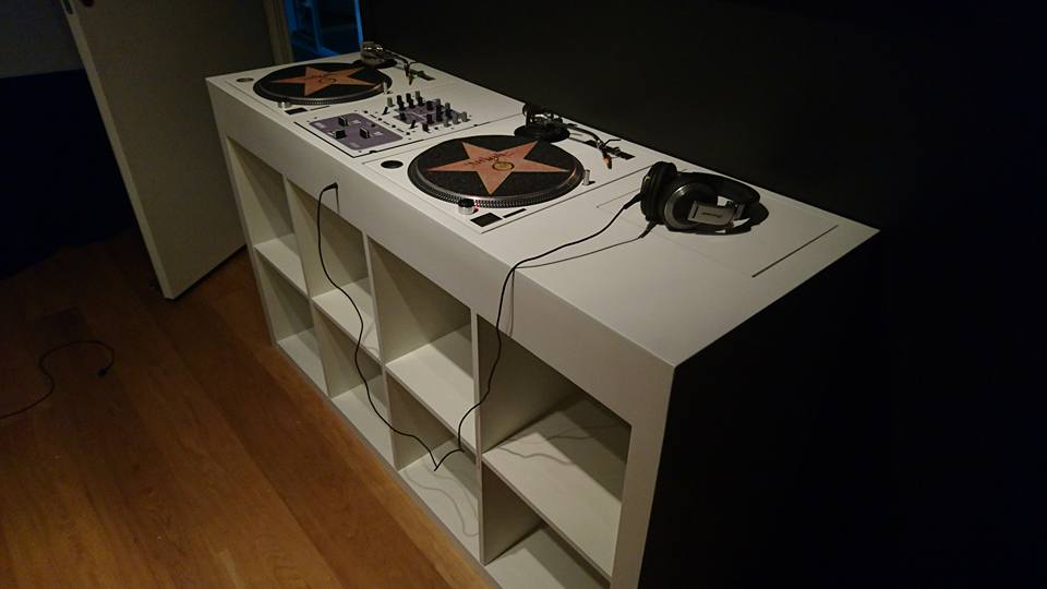 Expedit Turned Into DJ Booth IKEA Hackers