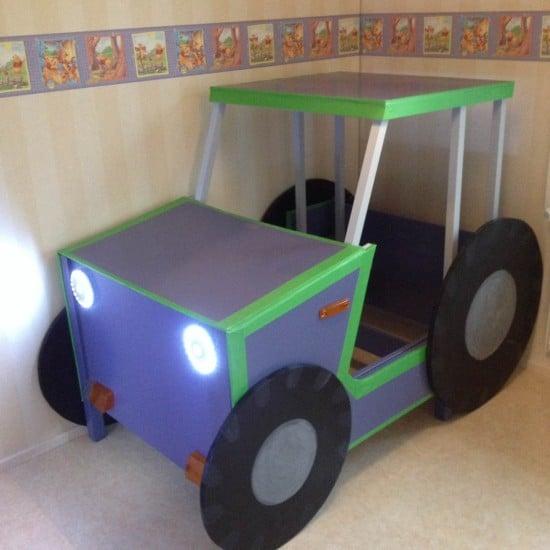 Leksvik toddler tractor bed