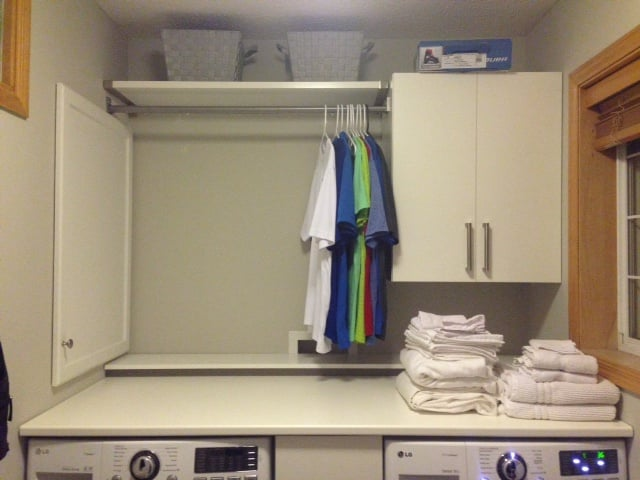 Laundry Room Countertop We Made It Float Ikea Hackers