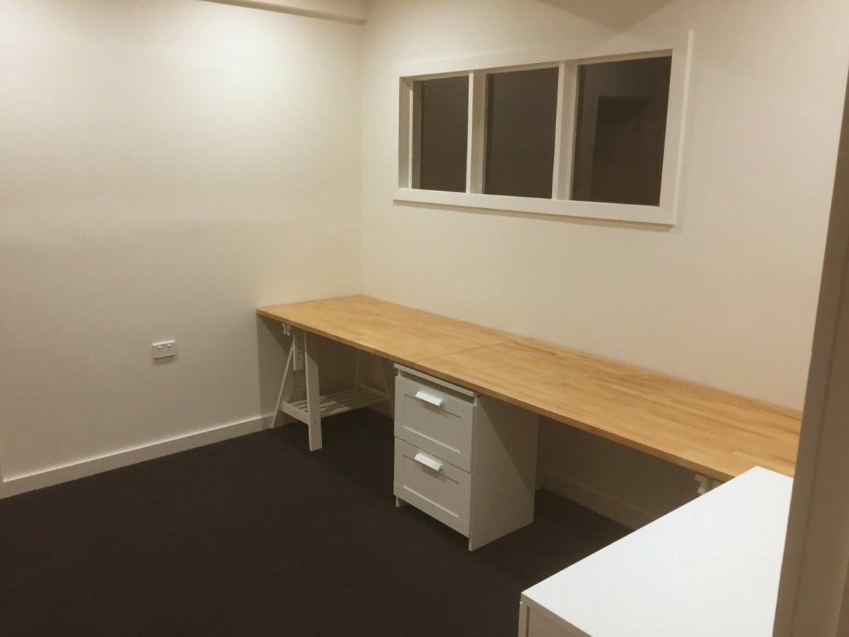 on sale 28386 7063d Long wooden home office / study bench desk - IKEA Hackers
