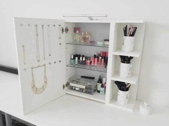 LILLÅNGEN vanity mirror with storage