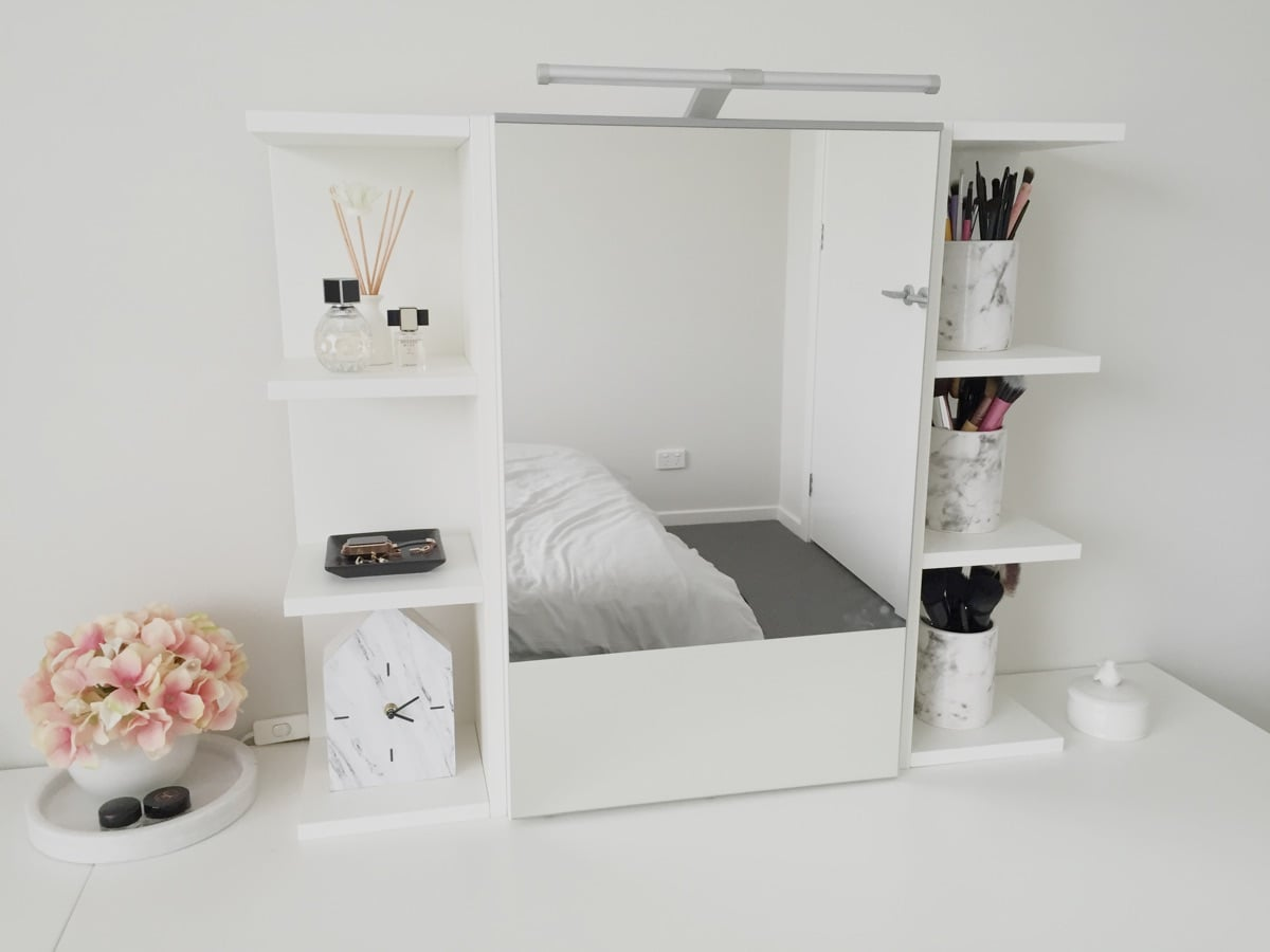Use IKEA LILLNGEN Mirror Cabinet As A Vanity With Storage Hackers
