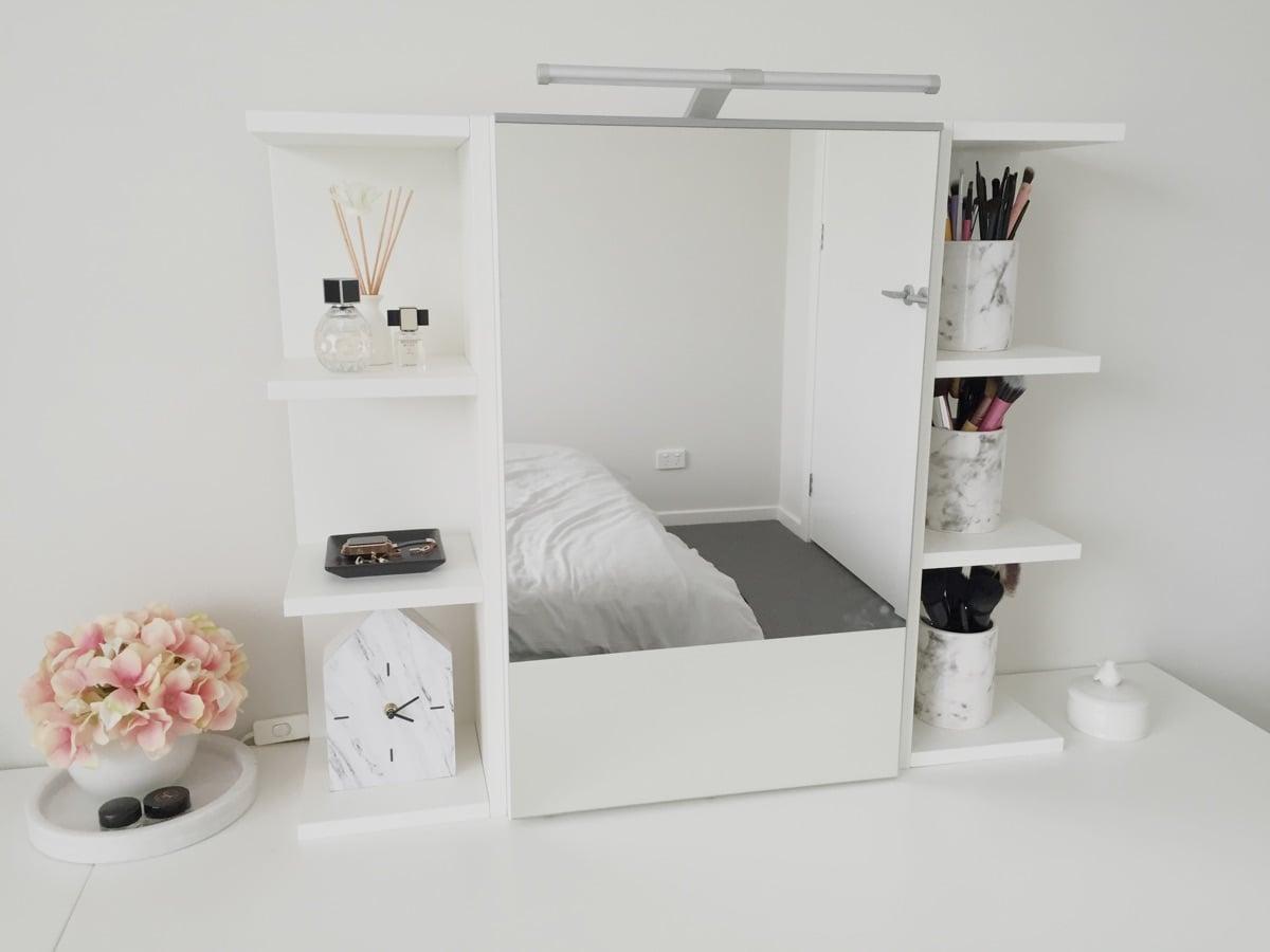 Use Ikea Lillangen Mirror Cabinet As A Vanity Mirror With Storage Ikea Hackers