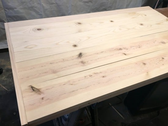 planked desk top completed - The Handyman's Daughter
