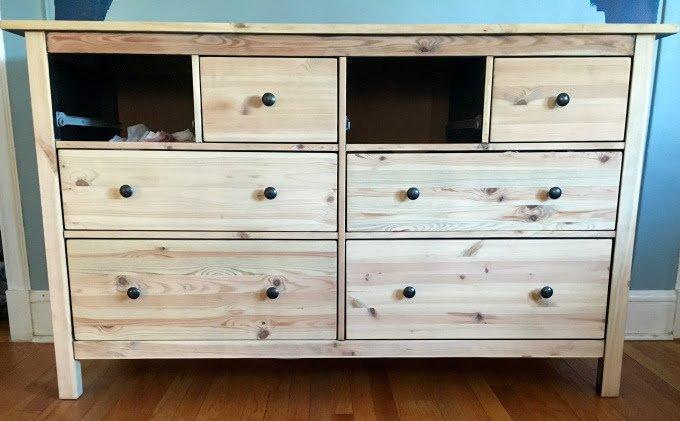 Ikea Hemnes Dresser Turned Mid Century