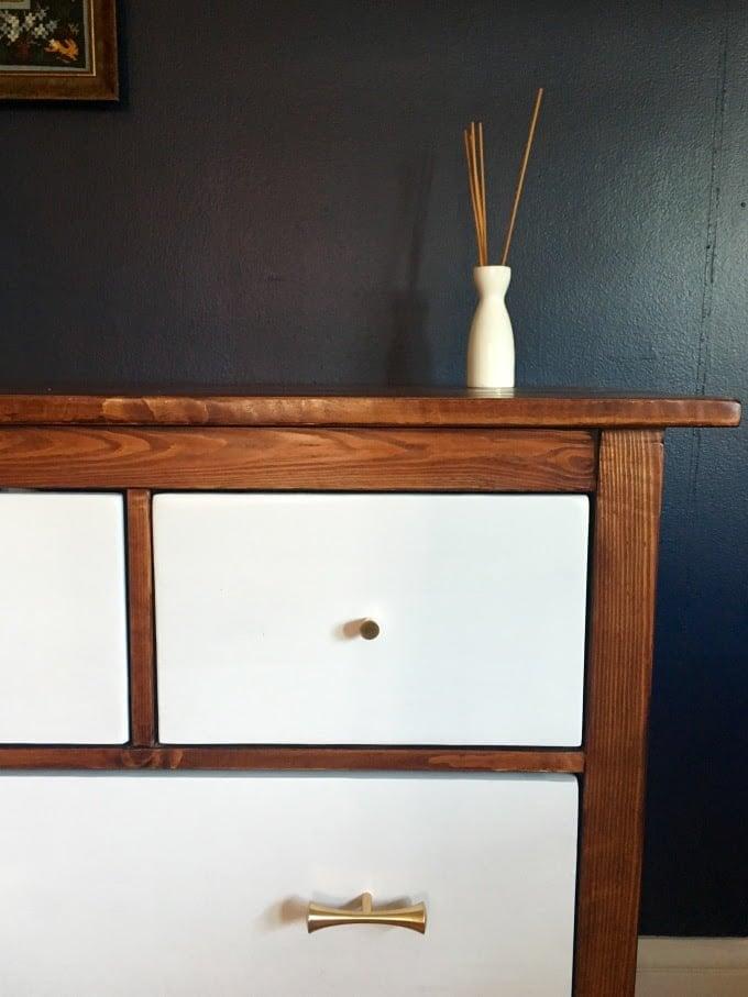 ikea hemnes dresser turned mid century modern ikea hackers ikea hackers. Black Bedroom Furniture Sets. Home Design Ideas