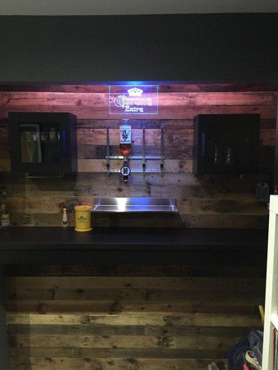 Bar sign installed