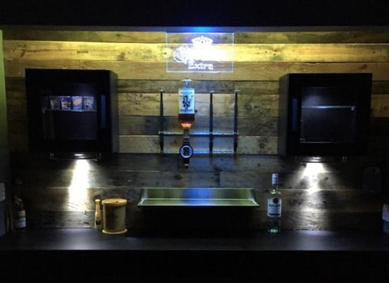 Lighting for man cave bar