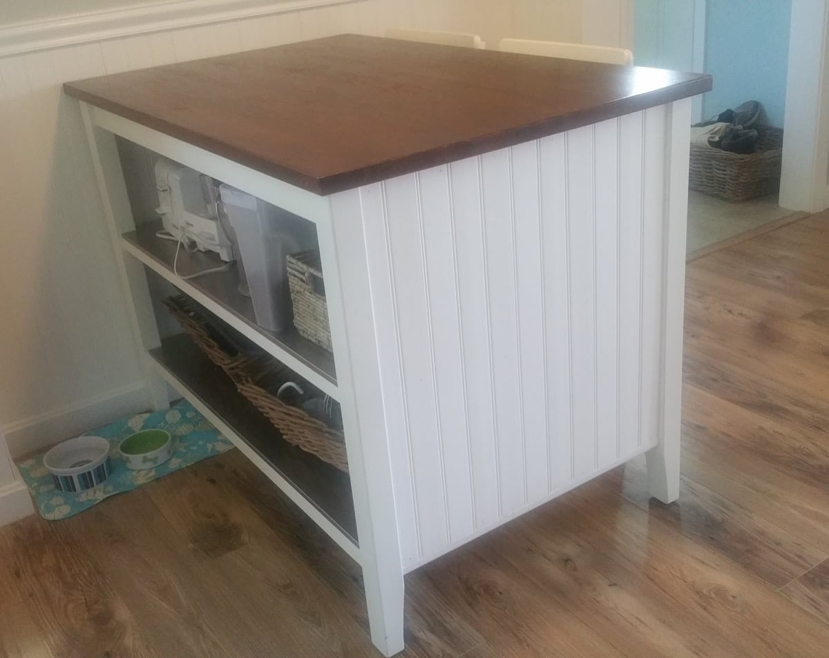 Coastal Makeover For Stenstorp Kitchen Island 1