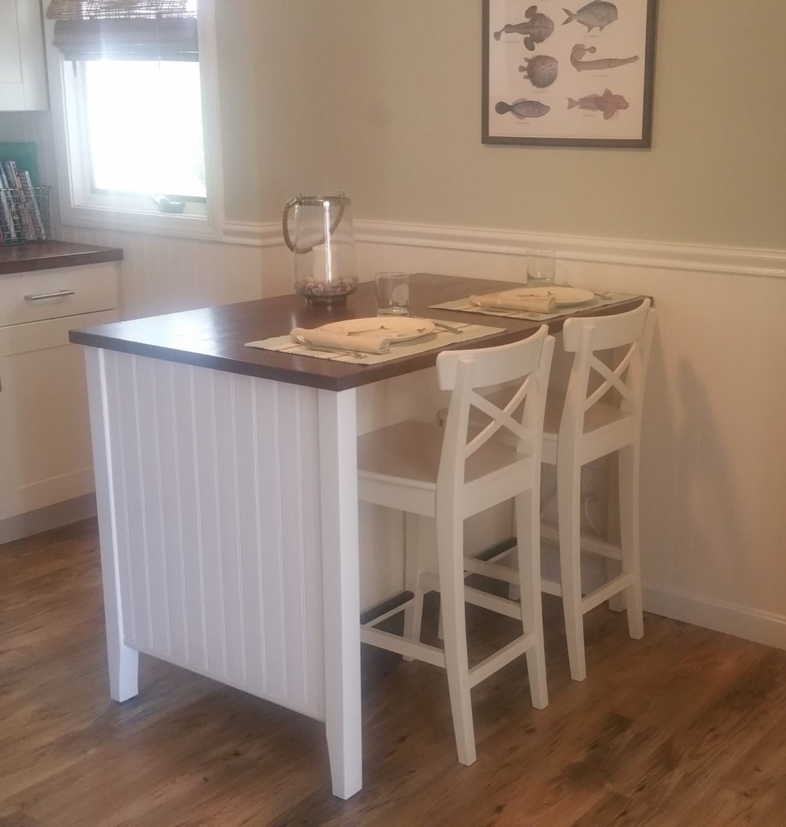 Coastal Makeover For Stenstorp Kitchen Island 2