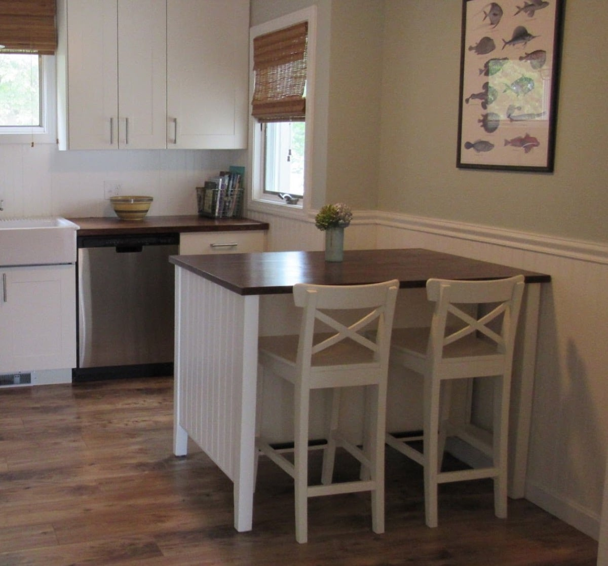 Coastal Makeover For Stenstorp Kitchen Island 4