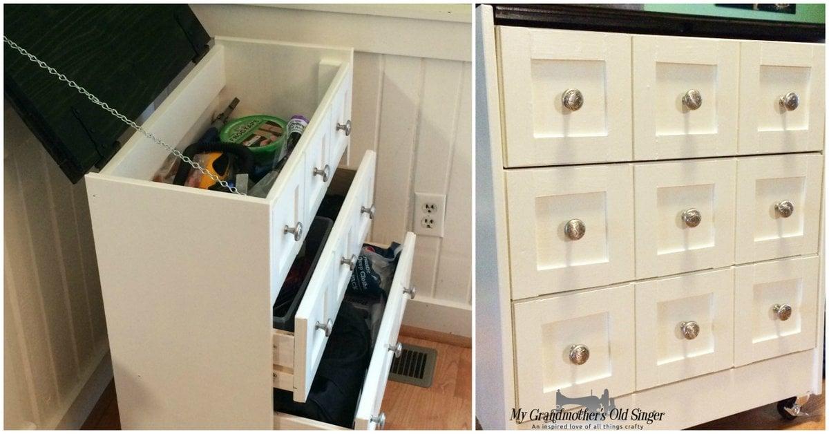 Stylish Tool Storage From An Ikea Rast Dresser