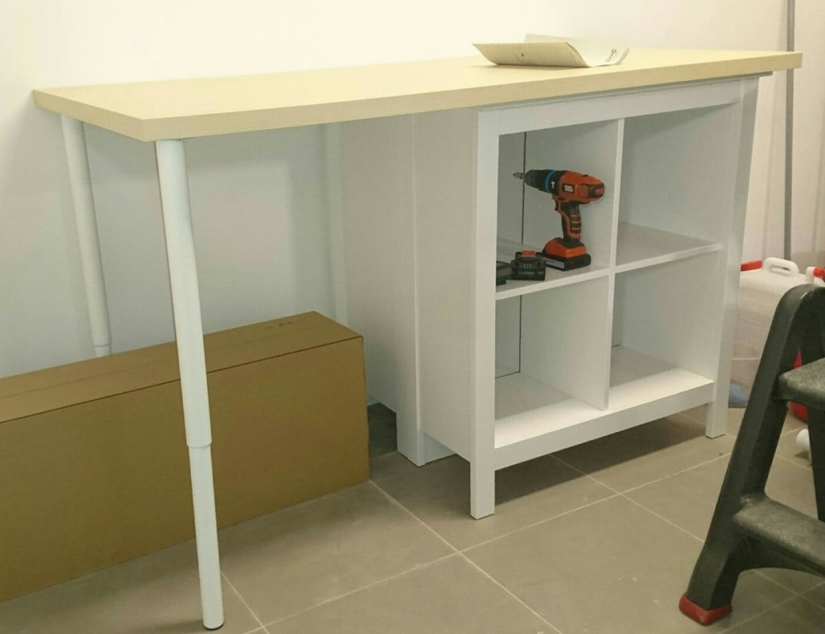 garage workbench made ridiculously simple - ikea hackers