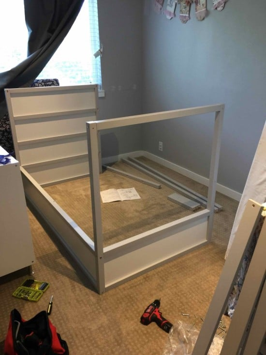 Assemble the KURA bunk bed