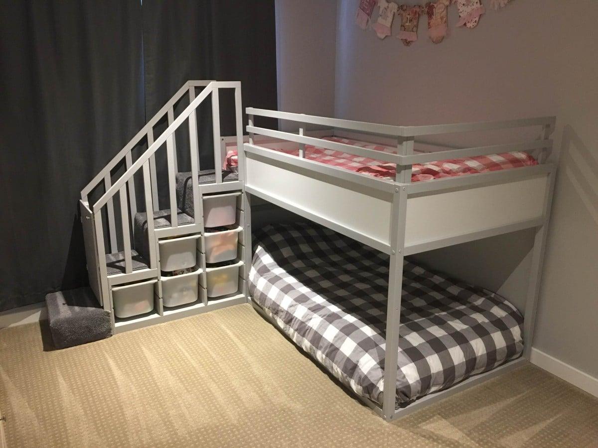 Kura Bunk Bed Hack For Two Toddlers Ikea Hackers Ikea
