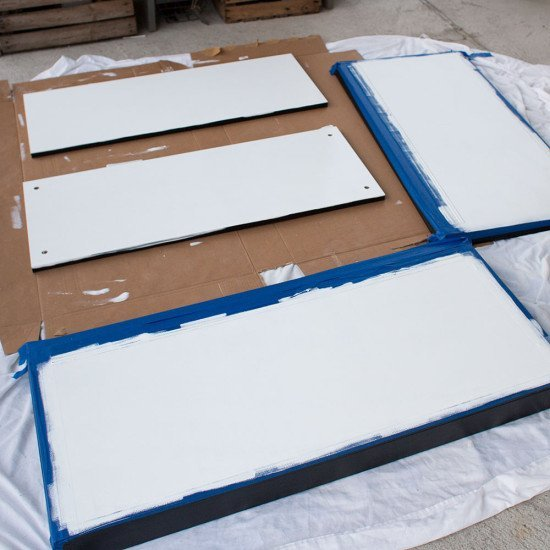Paint the required pieces