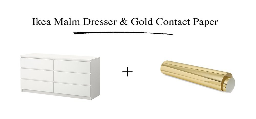 malm vintage style gold dresser ikea hackers ikea hackers. Black Bedroom Furniture Sets. Home Design Ideas