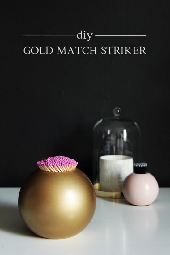 IKEA Nässjö candle holder hacked into gold match striker