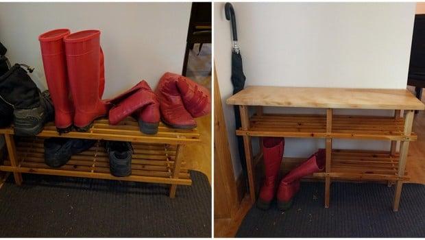 IKEA shoe rack to sweet bench
