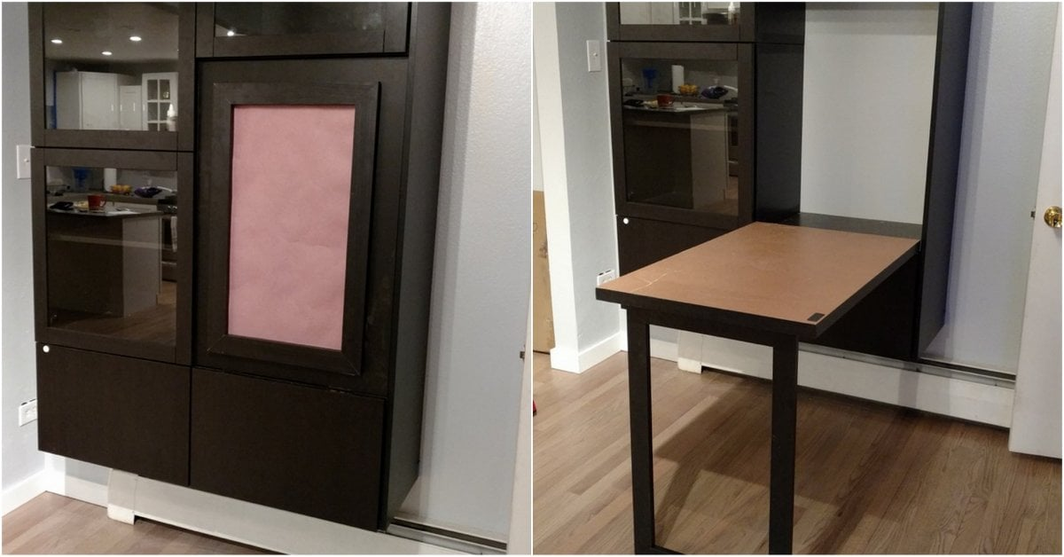 Office Spacesaver Unit With Faux Picture Frame Ikea Hackers Ikea Hackers