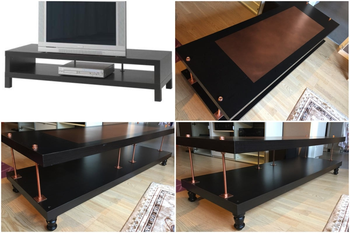 Tv Kast Wit Ikea Lack.Black Tv Stand To Industrial Steampunk In Minutes