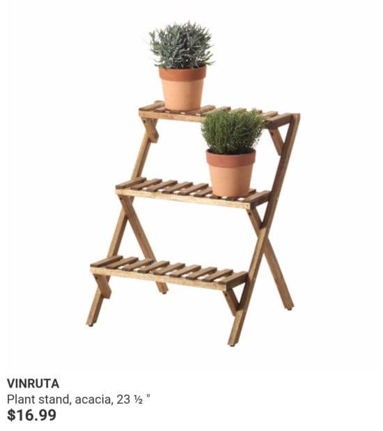 vinruta plant stand in IKEA Australia