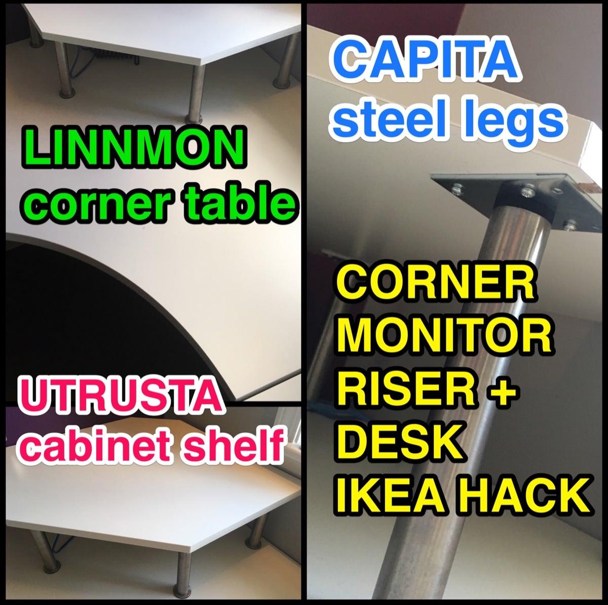 Corner Desk Monitor Stand Ikea Hackers