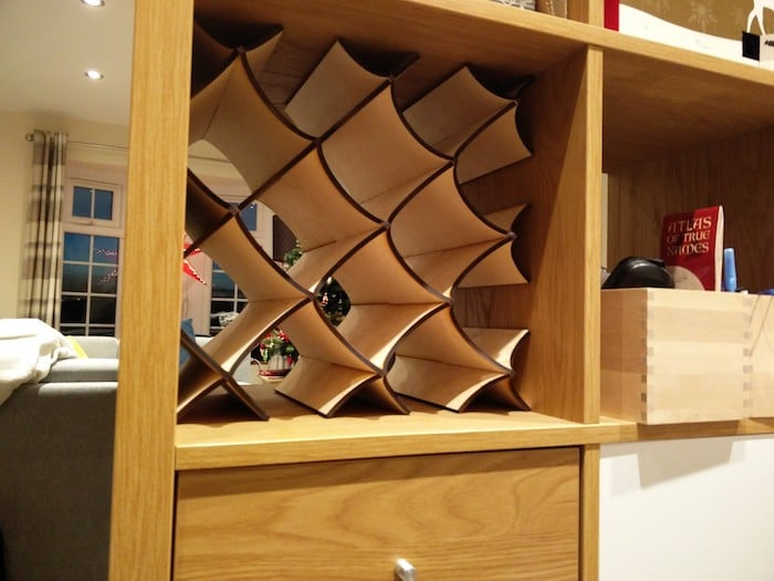 Ikea kallax wine rack insert ikea hackers for Wine shelves ikea