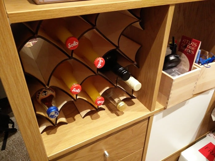 Ikea kallax wine rack insert ikea hackers ikea hackers for Wine shelves ikea