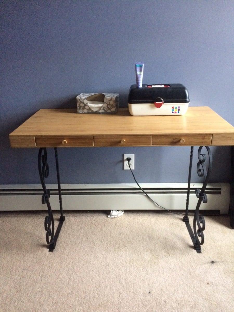 arc standing product desk desktop ergopose size bamboo desks