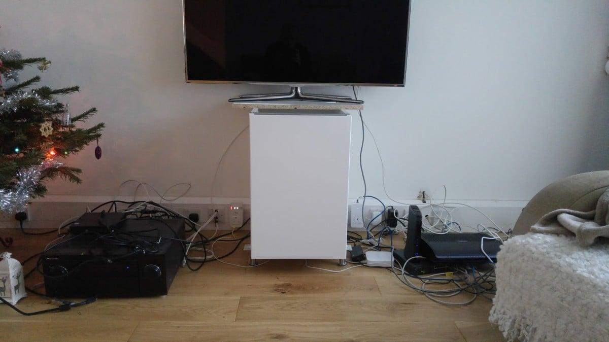 Ikea Metod Cabinets Into Av Unit Hackers Hack Home Wiring Cabinet
