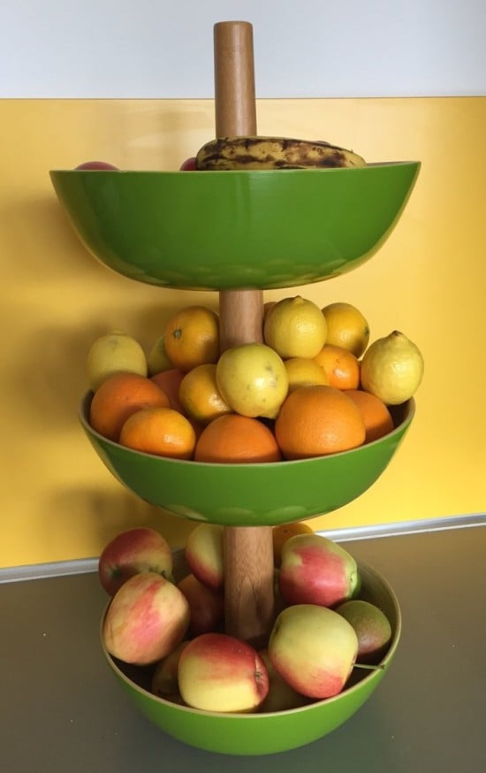 Quick and easy 3 tiered bamboo bowl for your kitchen or table